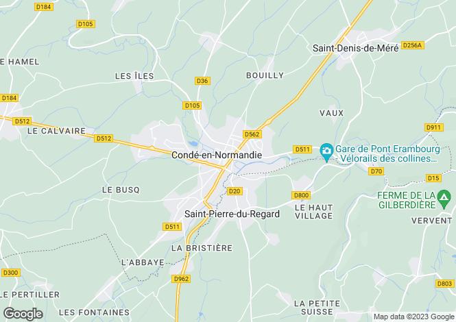 Map for saint-pierre-du-regard, Orne, France