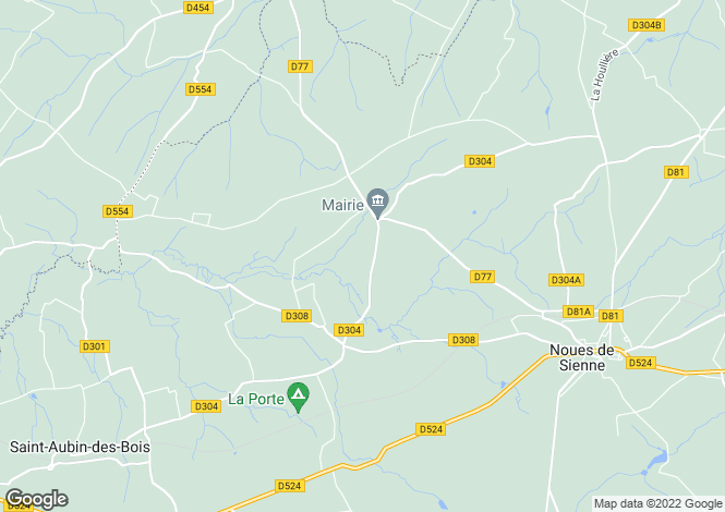 Map for Normandy, Calvados, Courson