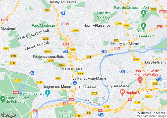 Map for le-perreux-sur-marne, Val-de-Marne, France