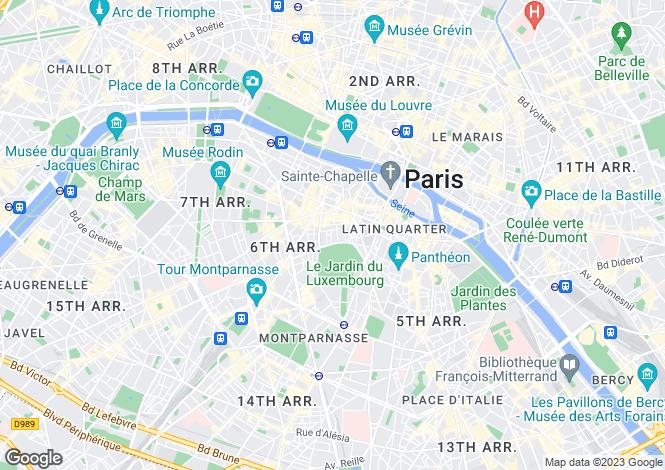 Map for Place Saint Sulpice, Saint Sulpice, Paris