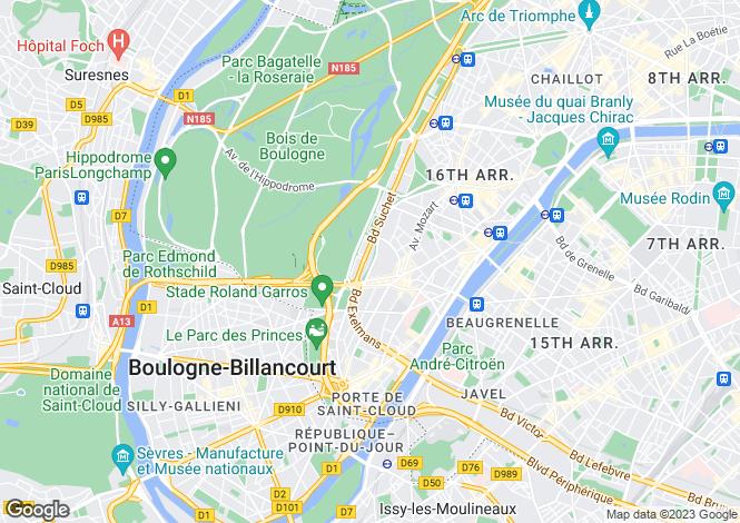 Map for Paris 16 Passy, Paris, Paris-Isle of France