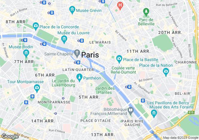 Map for Quai de Bethune, Ile Saint Louis, Paris
