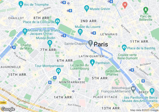 Map for Paris-Isle of France, Paris, Paris 06
