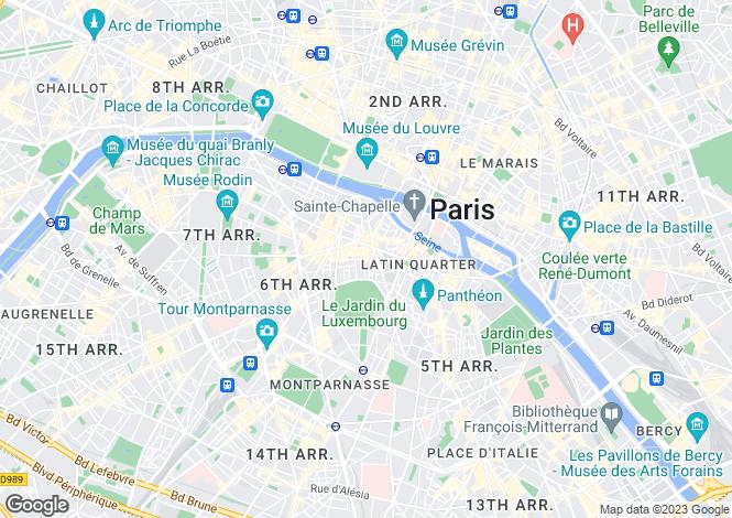 Map for Saint Sulpice, Paris, 75006
