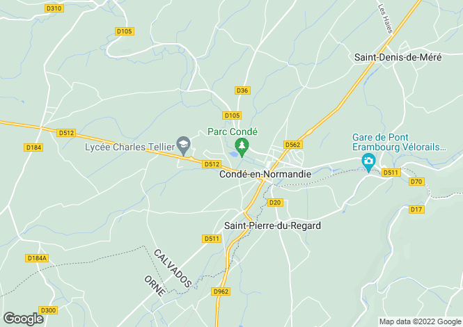Map for conde-sur-noireau, Calvados, France