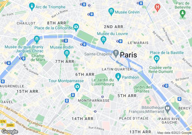 Map for Place Saint Sulpice, Saint Germain Des Pres, Paris
