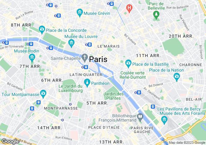 Map for Ile Saint Louis, Paris, 75004
