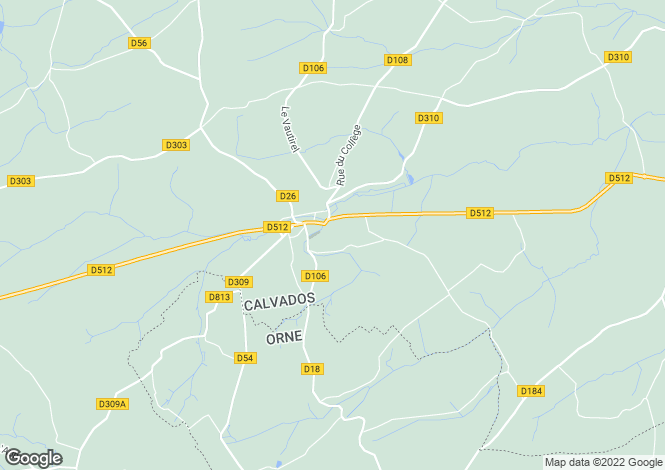 Map for Normandy, Calvados, near Vassy