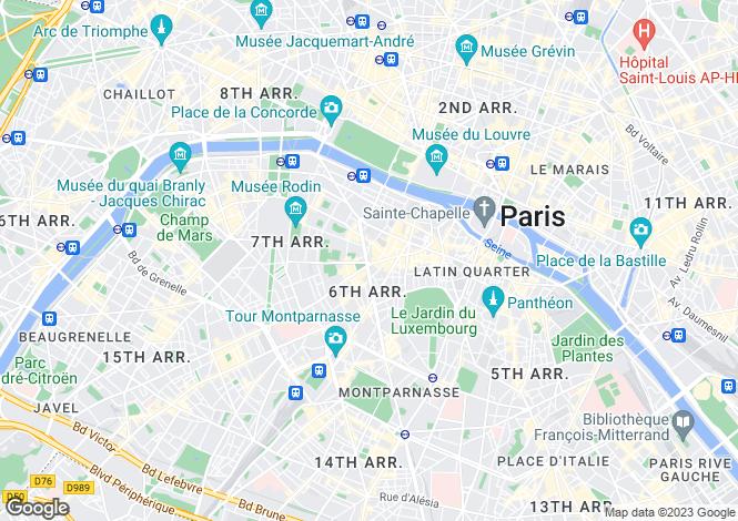 Map for Sevres Babylone, Faubourg Saint-Germain, Paris