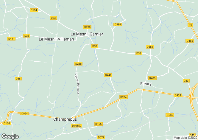 Map for Le Mesnil-Garnier, Manche, Normandy