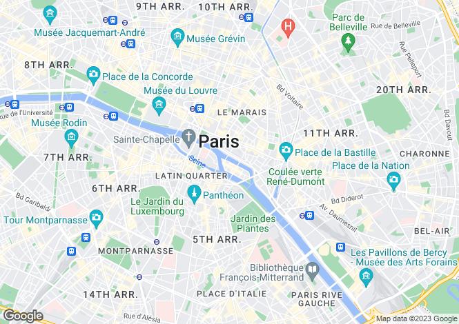 Map for Quai de Bourbon, Ile Saint Louis, Paris