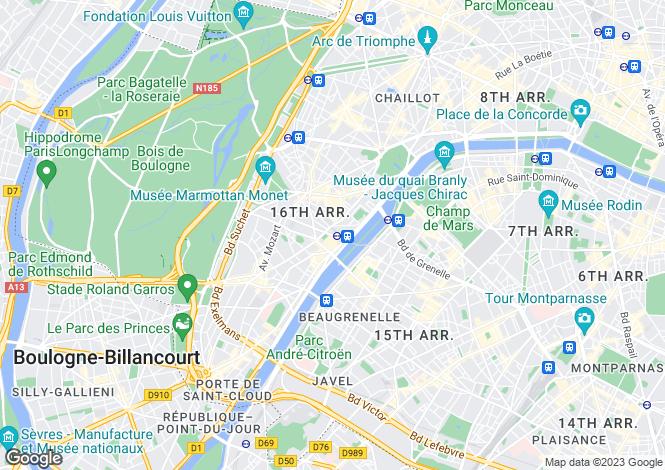 Map for Parisian House, Rue Du Ranelagh, Paris 16