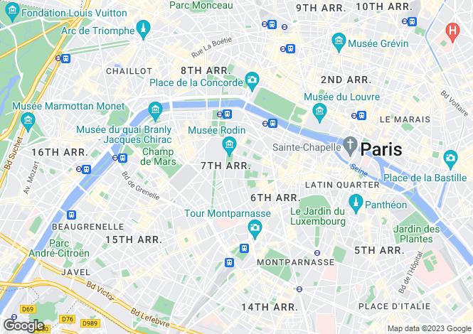 Map for Paris-Isle of France, Paris, Paris 07