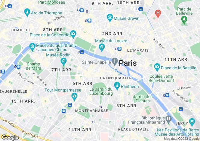 Map for Saint Germain Des Prés, Paris, 75006