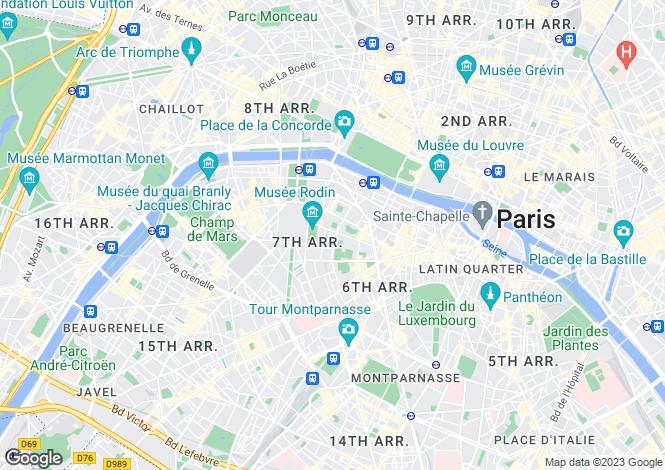 Map for Varenne, Matignon, Paris