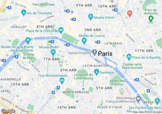 Map for Rue Jacob, Saint Germain Des Pres, Paris