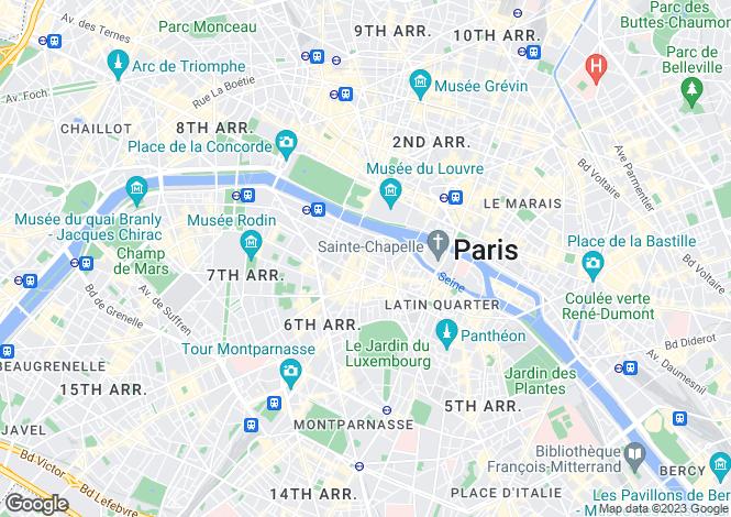 Map for Place de Furstenberg, Saint Germain Des Pres, Paris