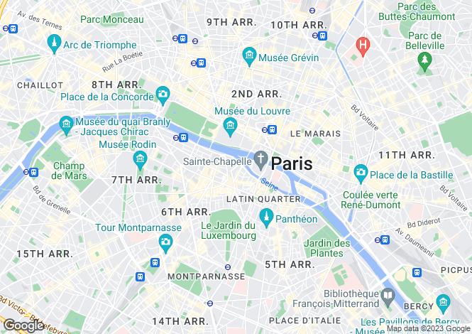 Map for Hotel de La Monnaie, Saint Germain Des Pres, Paris
