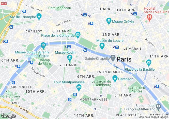 Map for Saint Germain, Bac, Paris