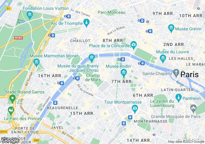 Map for Bosquet, Gros Caillou, Paris