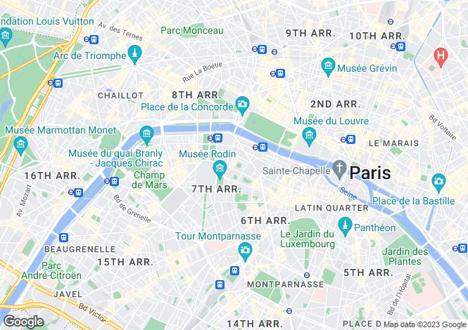 Map for Rue Casimir Perier, Saint Clotilde, Paris