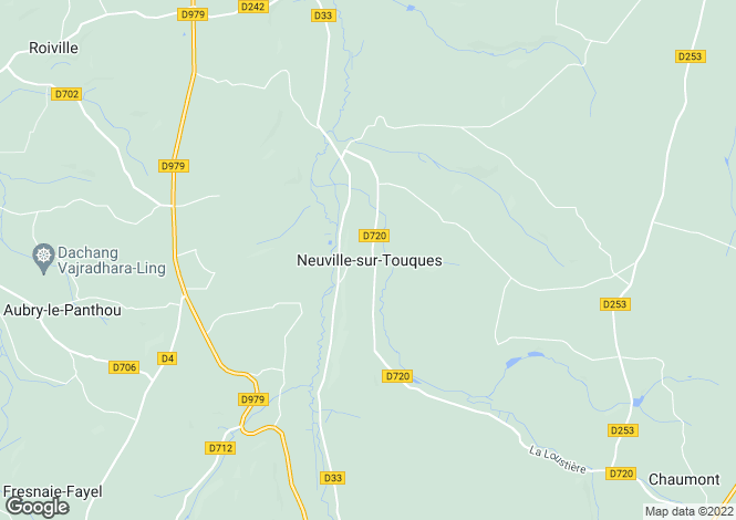 Map for Normandy, Orne, Neuville-sur-Touques