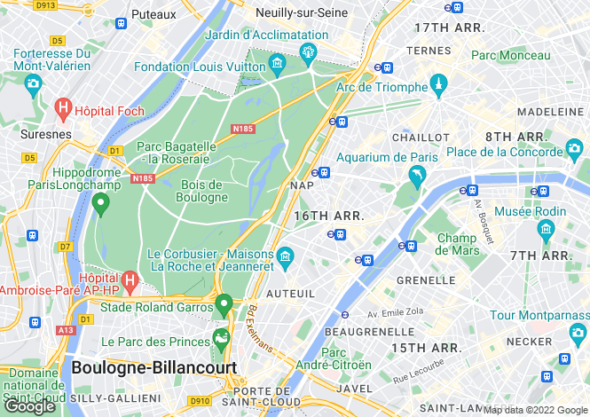 Map for La Muette, Paris, 75016