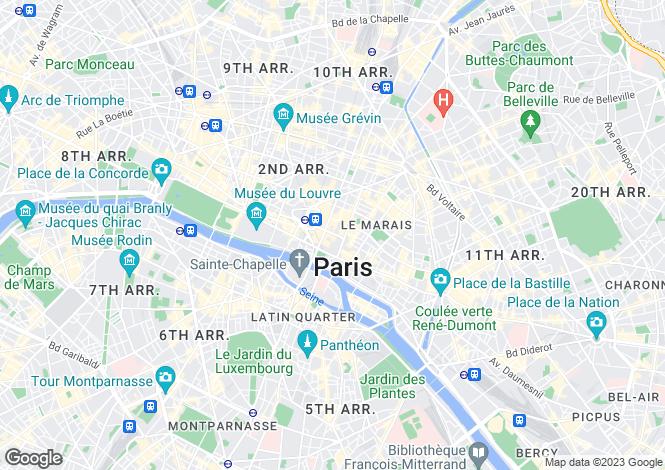 Map for Paris 04 Hôtel-de-Ville, Île-de-France