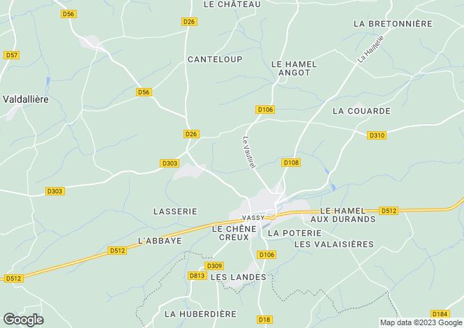 Map for Vassy, Basse-Normandie, 14410, France