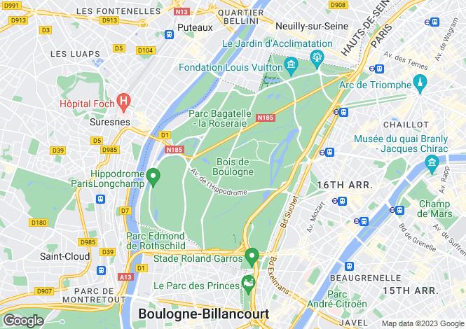 Map for Wonderful 1932's Mansion, Bois De Boulogne, Paris