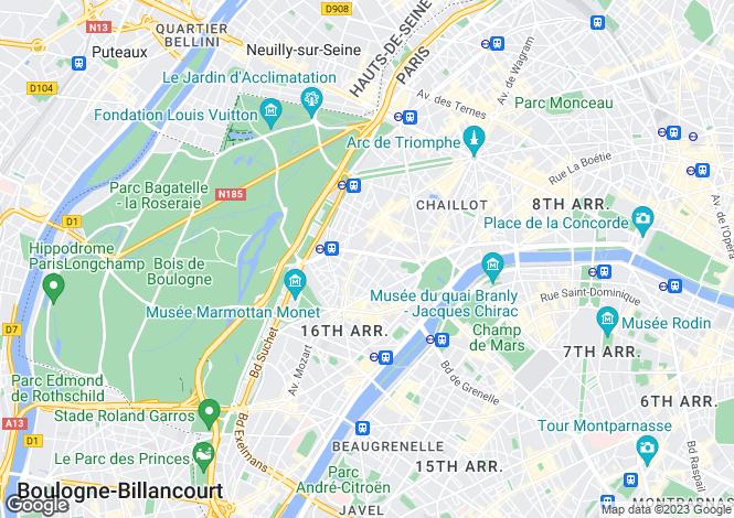Map for Rue de La Pompe, Paris, 75116