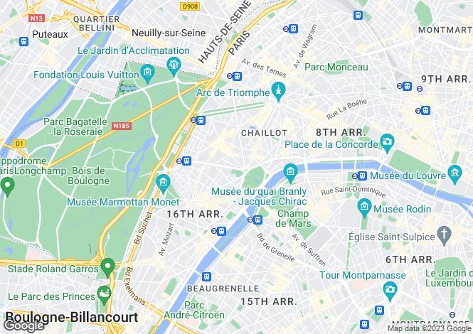 Map for Paris 16 Passy, Île-de-France