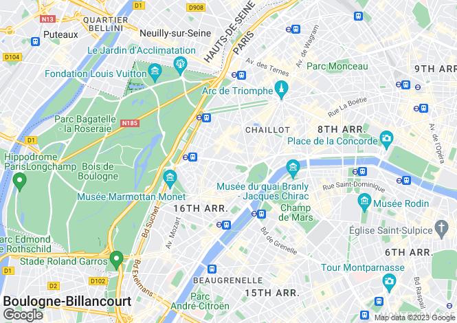 Map for Paris-Isle of France, Paris, Paris 16