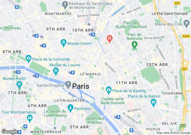 Map for Paris-Isle of France, Paris, Paris 03