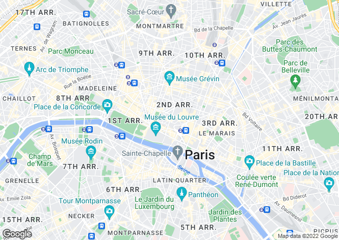 Map for Paris-Isle of France, Paris, Paris 01