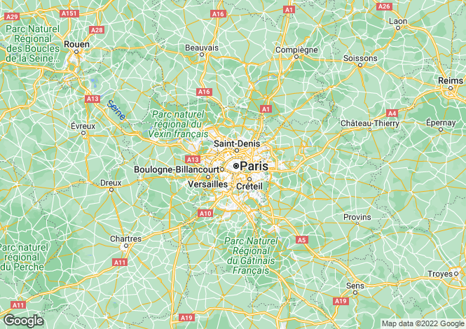 Map for Paris-Isle of France, Paris
