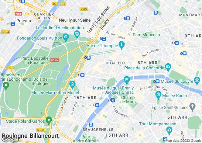Map for Place de Mexico, Victor Hugo, Paris
