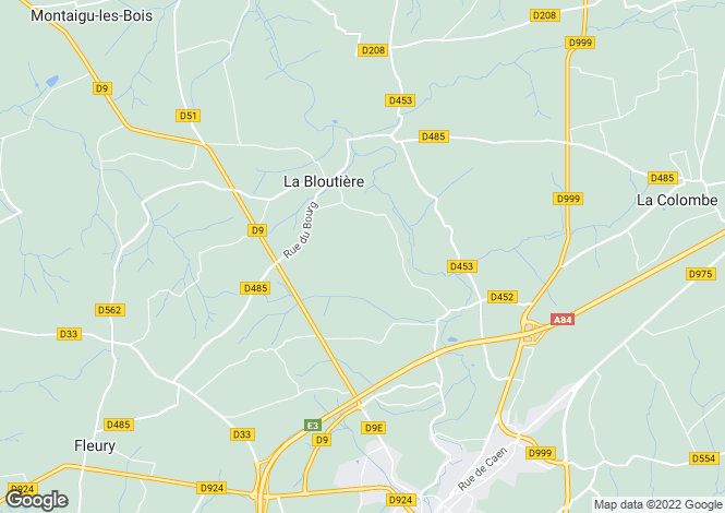 Map for Normandy, Manche, La Bloutiere