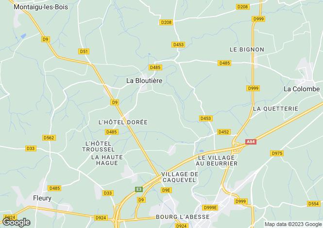 Map for la-bloutiere, Manche, France