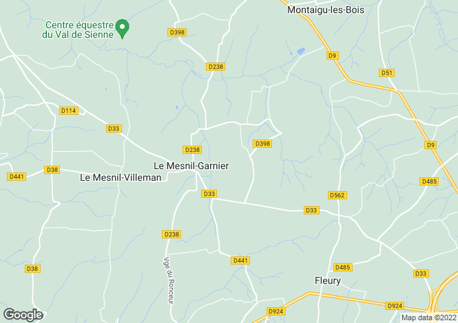 Map for Normandy, Manche, near Gavray