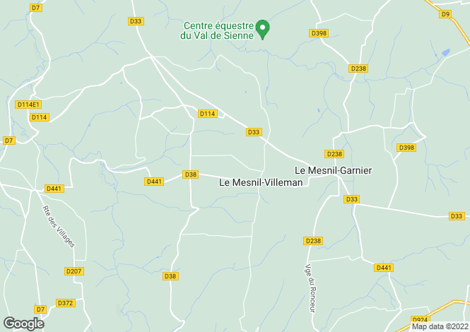 Map for Le Mesnil-Villeman, Manche, Normandy