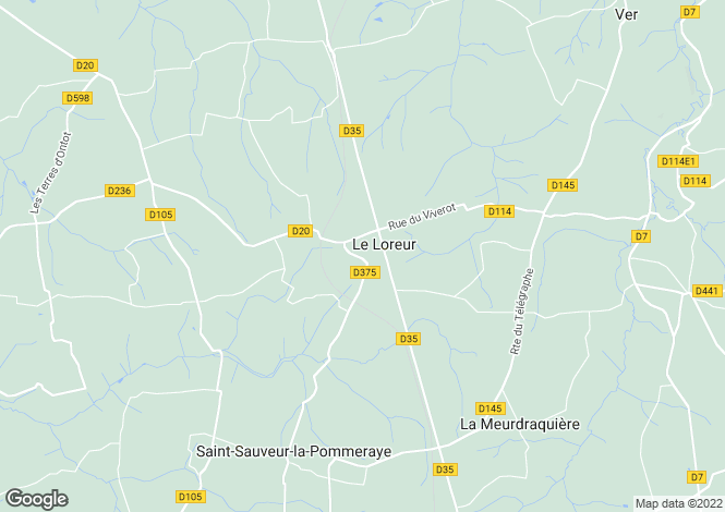 Map for Normandy, Manche, Le Loreur