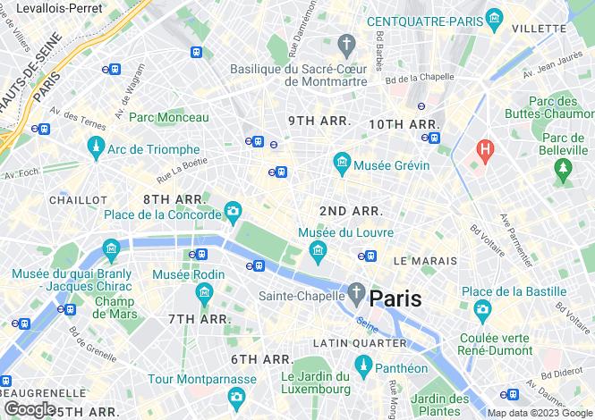 Map for Opera - Saint-Roch, Paris 2nd