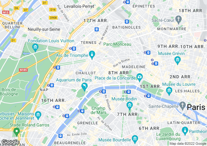 Map for Triangle D'Or, Paris, 75008