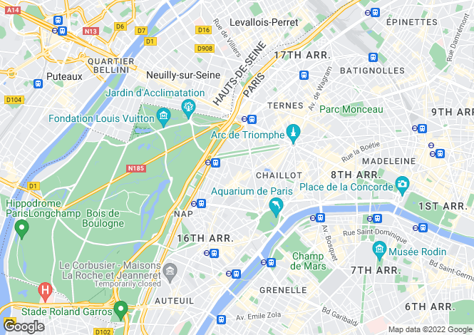 Map for Place Victor Hugo, Paris, 75116