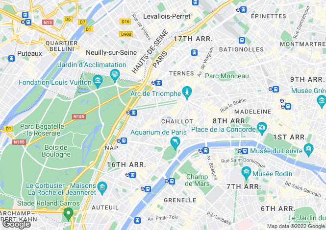 Map for Victor Hugo, Paris, 75016