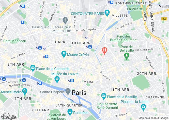 Map for Paris 10 Entrepôt, Île-de-France