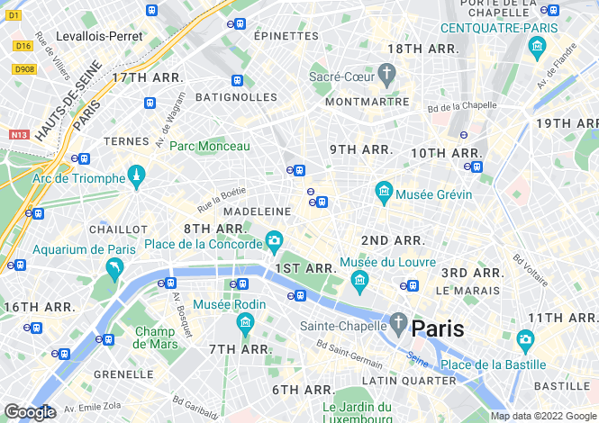 Map for 6th Floor Apartment, Triangle D'Or, Paris 8