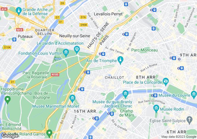 Map for Etoile, Paris, 75116
