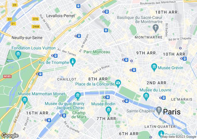 Map for Franklin Roosevelt, St Philippe Du Roule, Paris